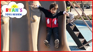 Download Outdoor Playground Fun for Children Activities! Kids Slide Family Fun Park Giant Legos Sand Box Video