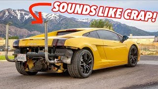 Download I PUT GIANT TRUCK STACKS ON MY LAMBORGHINI! Video