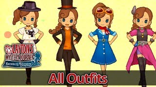Download ALL Outfits for Katrielle in Layton's Mystery Journey 3DS (HQ) No Commentary Video