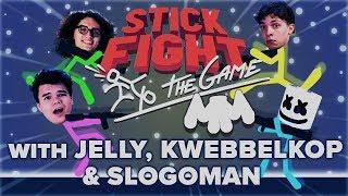 Download STICK FIGHT Battle Royale w/ Jelly, Kwebbelkop & Slogoman | Gaming With Marshmello Video