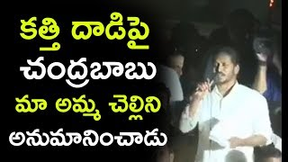 Download కత్తి దాడిపై చంద్రబాబు మా అమ్మ చెల్లిని అనుమానించాడు   Jagan Comments On Chandrababu Video
