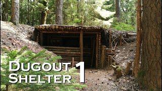 Download Building a bushcraft DUGOUT SHELTER (Reupload) // JustRandomPfusch Video