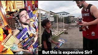 Download THOUSANDS of CHOCOLATES & CANDY for Less Fortunate FILIPINOS 🎃🇵🇭 EPIC Trick or Treats! Video