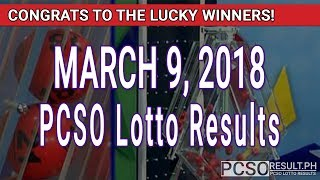 Download PCSO Lotto Results Today March 9, 2018 (6/58, 6/45, 4D, Swertres, STL & EZ2) Video