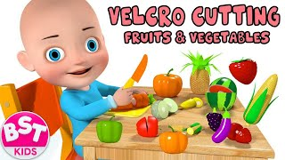 Download Baby Learn Names & Colors of Fruits and Vegetables with 3D Velcro cutting fruits and vegetables Toy Video