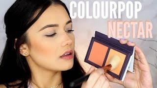 Download COLOURPOP NECTAR Live Swatches! Trying New Colourpop Makeup Video