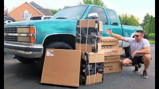 Download $1,200 Chevy Gets a HUGE LIFT KIT!!! (Costs More Than the Truck!) + Paint Prep! Army Green??? Video
