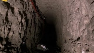 Download Rare view of tunnels under border wall Video