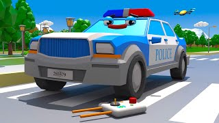 Download Voiture de Police et Cadeau surprise Cars Town - Dessins animés pour les enfants Video