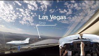 Download Las Vegas Strip to Billings, Montana....Private jet ride along Video
