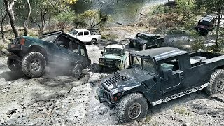 Download 4x4 Unimog Hill Challenge - Hummer vs Defender vs Discovery Video