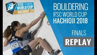 Download IFSC Climbing World Cup Hachioji 2018 - Bouldering - Finals - Men/Women Video