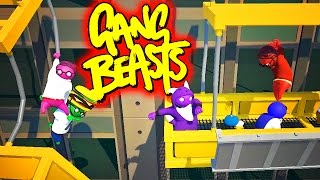 Download TACTICAL BURGER ADVANTAGE!! Funniest Fighting Game Ever - GANG BEASTS (Funny Moments) Video