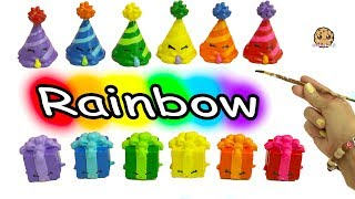Download DIY Painting Colorful Rainbow Color Shopkins Party Hat + Present Do It Yourself Craft Video