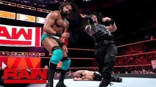 Download Roman Reigns & Seth Rollins vs. Kevin Owens & Jinder Mahal: Raw, May 21, 2018 Video