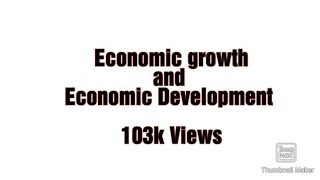 Download Economic growth and economic development in Urdu/Hindi Video