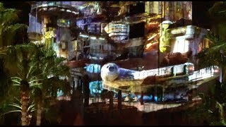 Download Batuu / Star Wars Galaxy's Edge land projections on Tower of Terror at Galactic Nights Video
