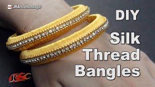 Download How to make Silk Thread Jewelry Bangles | JK Arts 982 Video