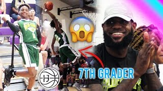 Download LEBRON IMPRESSED By 7th GRADER DUNKING!! Bronny James TOYING With DEFENDERS! Video