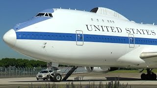 Download Boeing E-4B ″Doomsday Plane″ - Close-up at Le Bourget Airport! Video