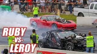 Download RUBY vs. LEROY - Their First Heads Up Drag Race! *FREEDOM ALERT* (+Demolition Drag Racing) Video
