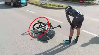 Download Tirreno Adriatico 2017 | Gianni Moscon | Epic Crash !! Video
