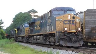 Download [3E] Explosive CSX Train and a Q616's Knuckle Breaks Again, Hull - Dacula GA, 07/24/2016 ©mbmars01 Video