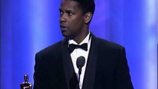 Download Denzel Washington Wins Supporting Actor: 1990 Oscars Video