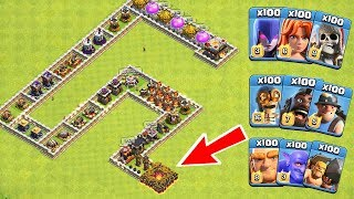 Download Who Can Survive This Difficult Trap on COC? Trap VS Troops #16 Video