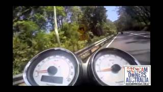 Download Camry slams brakes in front of Motorcyclists - Bells Line of road NSW Video