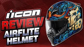 Download Icon Airflite Helmet Review | Sportbiketrackgear Video