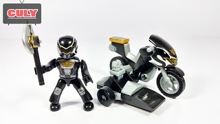 Download Lego Siêu nhân thiên sứ Đen chạy Moto Power Ranger MegaForce Black Megablock brick toys for kids Video