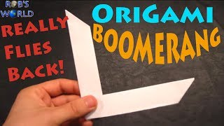 Download How to Make an Origami Boomerang - Rob's World Video