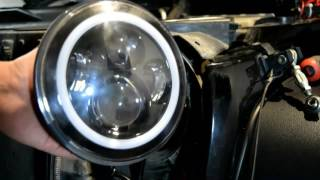 Download Jeep JK LED projector halo headlight install Video