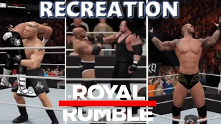 Download WWE 2K17 RECREATION: ROYAL RUMBLE MATCH 2017 HIGHLIGHTS Video