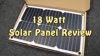 Download 18 Watt Solar Panel Review & Testing Video