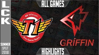 Download SKT vs GRF Highlights ALL GAMES \ LCK Summer 2018 Week 7 Day 4 | SKT T1 vs Griffin Video