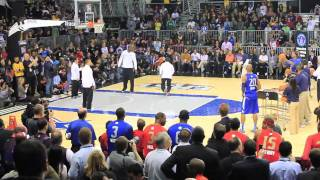 Download Ray Allen & Paul Pierce vs. Kevin Durant & Dirk Nowitzki - 2011 NBA All-Star Practice - World Record Video