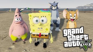 Download GTA 5 Mods - SPONGEBOB VS TOM & JERRY MOD (GTA 5 PC Mods Gameplay) Video