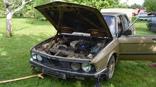 Download Starting 1981 BMW E28 520i After 9 Years (1080p) Video