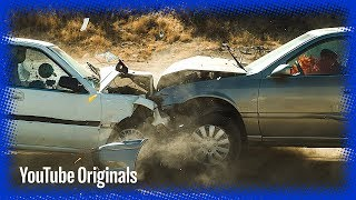 Download Head on Car Crash in Slow Mo Video