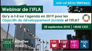 Download Webinar de l'IFLA: Les ODD en 2019 Video