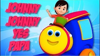 Download Johnny Johnny Yes Papa | Bob The Train Cartoons | Nursery Rhymes for Kids Video