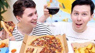 Download DAN AND PHIL MASSIVE PIZZA MUKBANG Video