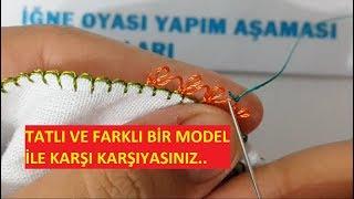 Download Tatlı ve farklı yazma örneği needle and thread embroidered Video