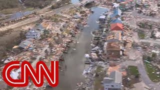 Download Aerial view shows catastrophic damage from Hurricane Michael Video