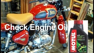 Download How to check engine oil in Royal Enfield Classic Video