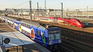 Download Rail Live 16. Paris Railway. RER D - TGV - Transilien. Stade de France Station. Video