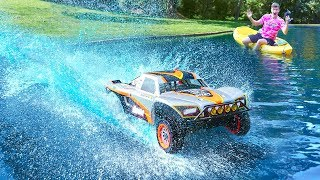 Download HUGE RC CAR DRIVES ON WATER!! Video