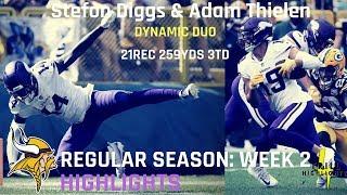 Download Stefon Diggs & Adam Thielen Week 2 Highlights | Dynamic 09.16.2018 Video